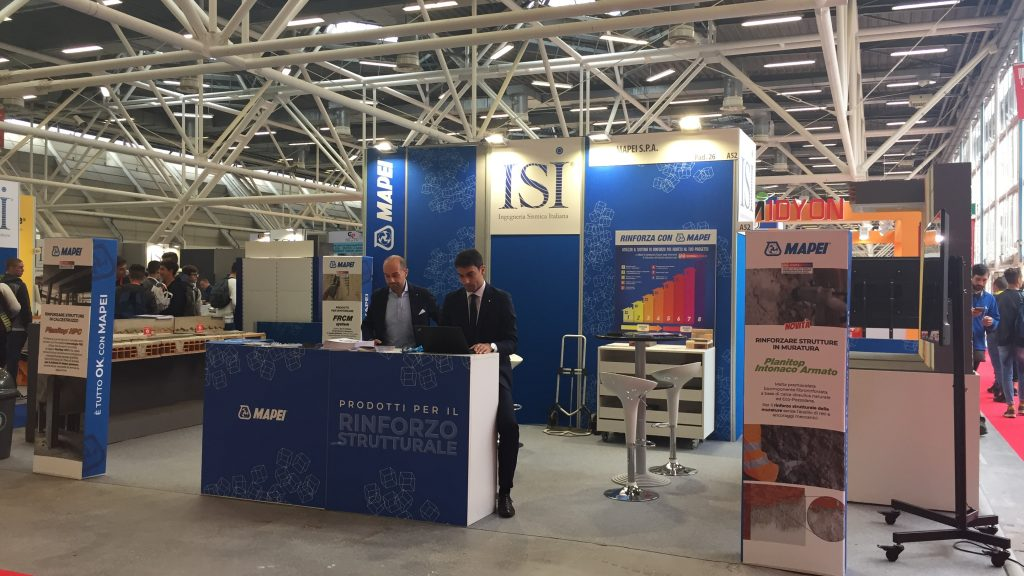 Lo Stand di Mapei a Saie 2018, nell'Area ISI