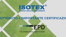 Il legno cemento di Isotex® è il primo certificato con etichetta EPD per tutta la gamma di prodotti