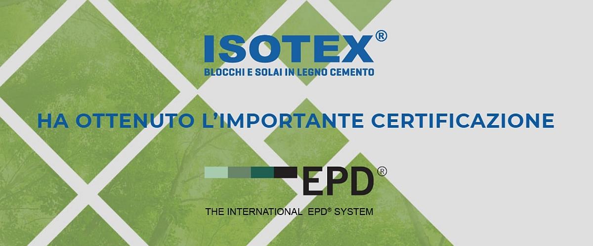 1. Immagine di copertina EPD Isotex
